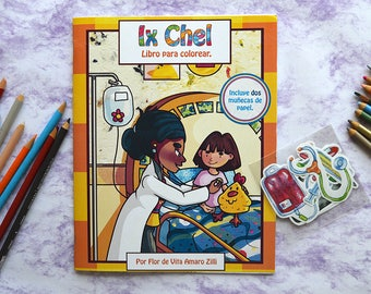 Ix Chel. Spanish tale that you can coloring.