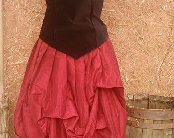 jupe bouffante style elfique, romantique, médiévale ,steampunk ,gothique   Cape Diem