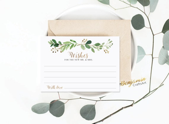 greenery wedding well wishes cards advice for the and
