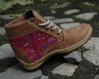 cute shoes with Guatemalan traditional design