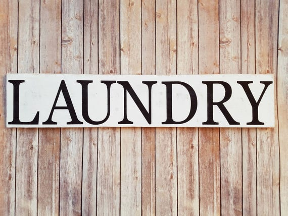 Distressed Laundry Sign Laundry Sign Rustic Laundry Sign Laundry Room Decor Sign
