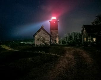 Nauset Light  8 x 10 Fine Art Print -  Magic at Night Cape Cod - Other sizes available