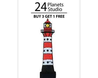 Lighthouse Iron on Patch by 24PlanetsStudio