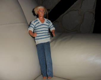 ken, V neck striped sweater