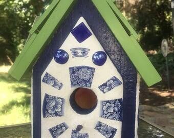 Blue  Delft Birdhouse