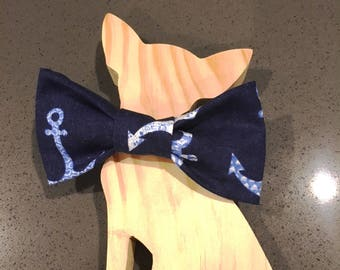 Pet Bow Tie - Little Sailor - Dog bow tie - Cat bow tie - Pet accessory Nautical accessory