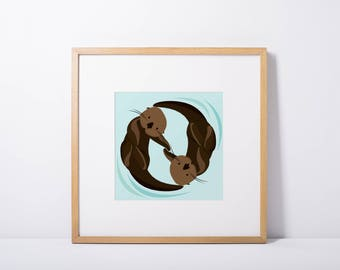 Otter Friends - Print
