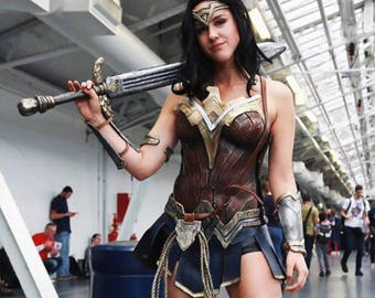 Wonder Woman Costume Cosplay, Gal Gadot Justice League