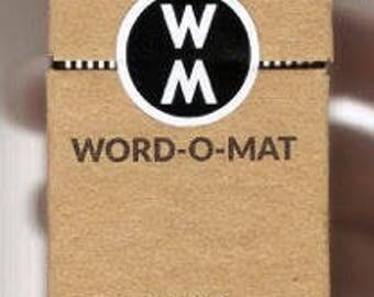 Word-o-Mat Edition #1