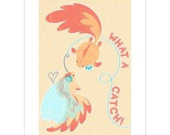 What a Catch! A5 Art Print