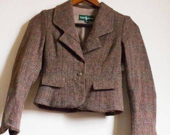 Girls Ralph Lauren Vintage Brown Wool Blazer-Brand New