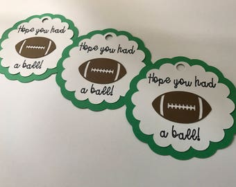 Football Birthday Favor Tags - Had A Ball Favor Tag - Football First Birthday Party - Football Birthday Party Decorations - Football Favors