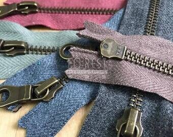 40cm Zippers| YKK metal zippers