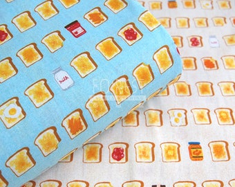 Cosmo Oxford - breakfast Toast and milk fabric -50cm
