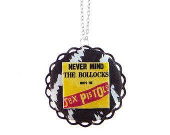 NEVERMIND THE BOLLOCKS Here's The Sex Pistols CIRCLE NECKLACE
