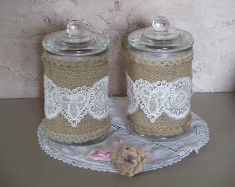 Set of two decorative spirit retro country chic