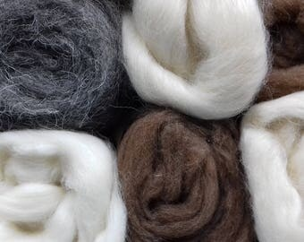 British Rare Breeds Felting Wool 600g Selection Box