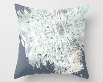 Modern Pillow, Blue Pillow, Designer Pillows, Modern Throw Pillows, Mix and Match Pillows, Stained Glass, Tree Pillow, Pillows by Ochre Nest