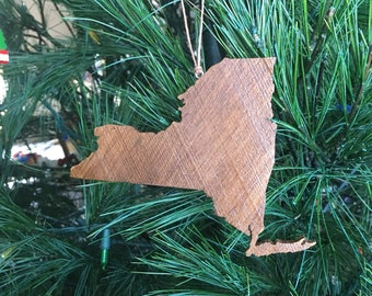 New York Ornament, New York, New York cut out, Ornament, State Christmas Ornament