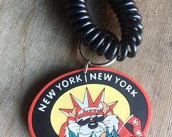 Vintage Taz New York Souvenir Keychain