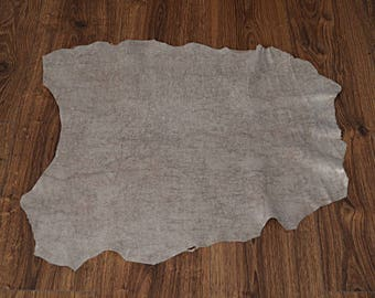 Leather skin of beige velvet lace (8997284)