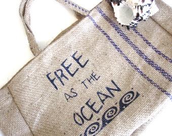 Boho Hobo Bag, Hippie Hobo Bag, Jute Tote Bag, Bohemian Tote Bag, Yoga Tote, Market Bag, Graphic Bag, Beach Bag, Eco Friendly Tote, Nautical