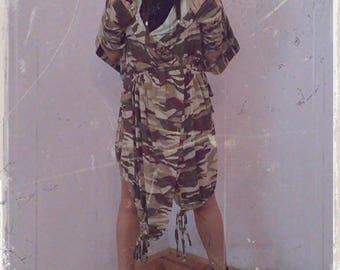 Postapocalyptic hooded dress