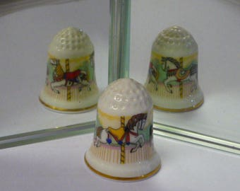 Carousel Royal Doulton Bone China Thimble