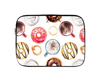 Coffee and Donuts Laptop Sleeve, Tablet Sleeve