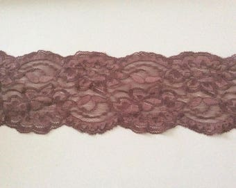 Taupe lace spandex color 6.5 cm in width good quality