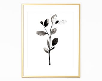 Botanical Print,Scandinavian print,Instant Download,Black&White botanical,Minimalist Botanical,Nature Print,Wallart Printable