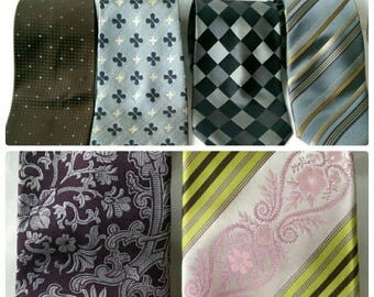 A Selection of Men's Designer 100% Silk Ties Aquascutum, Pierre Cardin, Ted Baker - 6 Styles (176)