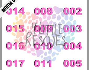 Live Facebook Sales Reverse Numbers 1-500 | Mirror Image Tags | Pink and Gold | Black and Pink | Printable PDF | Jewelry Sale