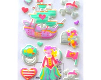 Stickers 3D Princess pirate 18 x 10 creative cardmaking scrapbooking