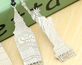 Bookmark in silver metal Big Ben London 7,6 cm