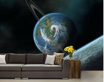 earth wallpaper, atmosphere wall mural, galaxy wallpaper, galaxy wall decal, star wallpaper, star wall mural, solar system wallpaper, cloud