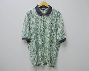 ASHWORTH Vintage 80's ASHWORTH All Over Print Crafted With Pride Made In USA Polo Tee T Shirt Size M