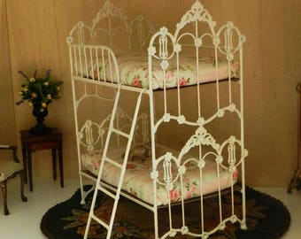 "Artisan Made Barbie 1:6 Scale Wrought Iron Look Bunk Bed ""MARIGOLD"""