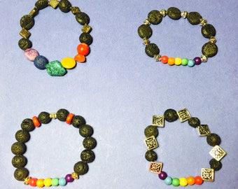 Rainbow Diffuser/Aromatherapy Bracelets
