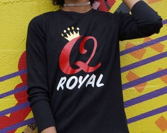 Queen Royal Ladies' Long Sleeves Black Shirt