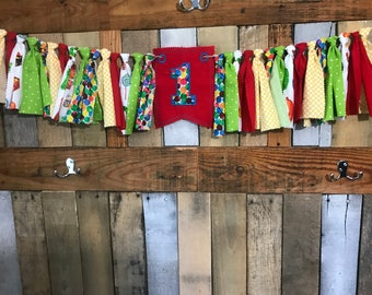 The very hungry caterpillar birthday high chair banner