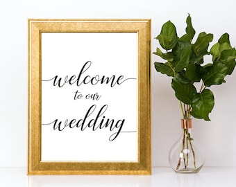 Welcome to Our Wedding Sign Downloadable PDF Wedding Printable