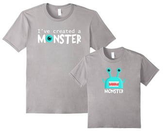 Father Son Matching Shirts | I Created a Monster | Dad Son Matching Shirts | Daddy Son Matching Shirts | Father Son Matching Set