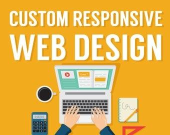 Custom Website Design Service, Responsive Website Design, Wordpress Website, Website Design, Web Design, Web Designer, Web Developer