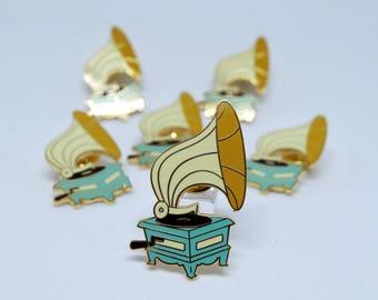 Gramophone Record Player Hard Enamel Pin