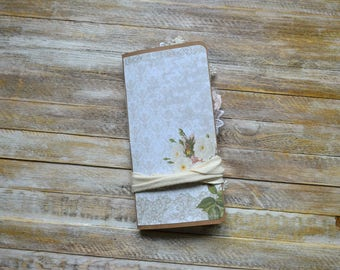 """Midori Traveler's Notebook, Midori Insert, Traveler's Notebook Insert, Junk Journal, One Signature, Writing Journal """"The Rose Garden"""""""
