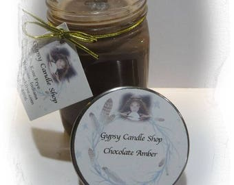 Chocolate Amber Soy Candle