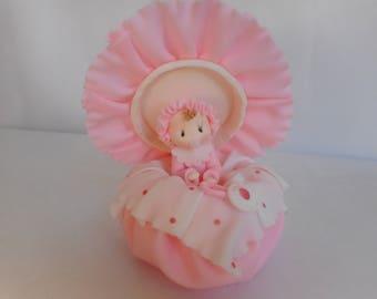 Baby Girl Cake Topper, Baby Cake Topper, Baby Shower Cake Topper, Baby Girl Cake Topper, Girl Cake Decor, Pink Baby Shower,Girl Baby Shower