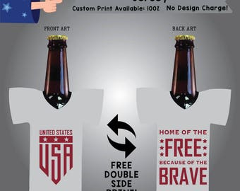 Home of the Free Because of the Brave Jersey Holidays Cooler Double Side Print (J-America01)