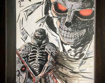 Berserk anime / manga Skull Knight 8.5 x 11 gloss art print